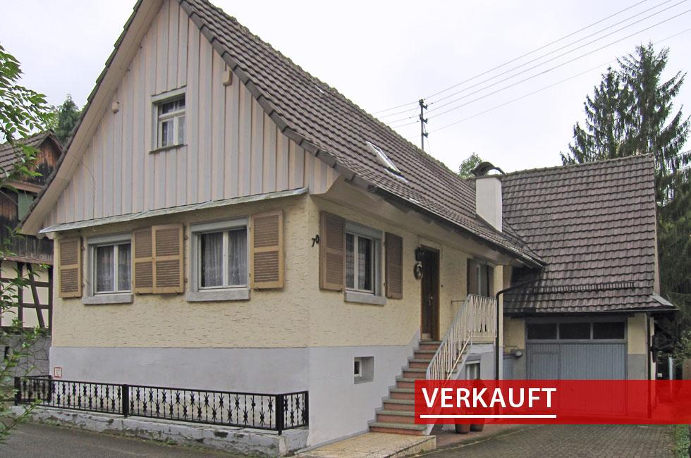 Referenzobjekt kleines Fachwerkhaus in Fessenbach