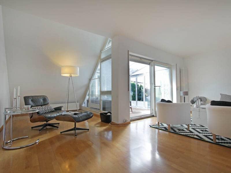 Homestaging Referenz Doppelhaus Leseecke
