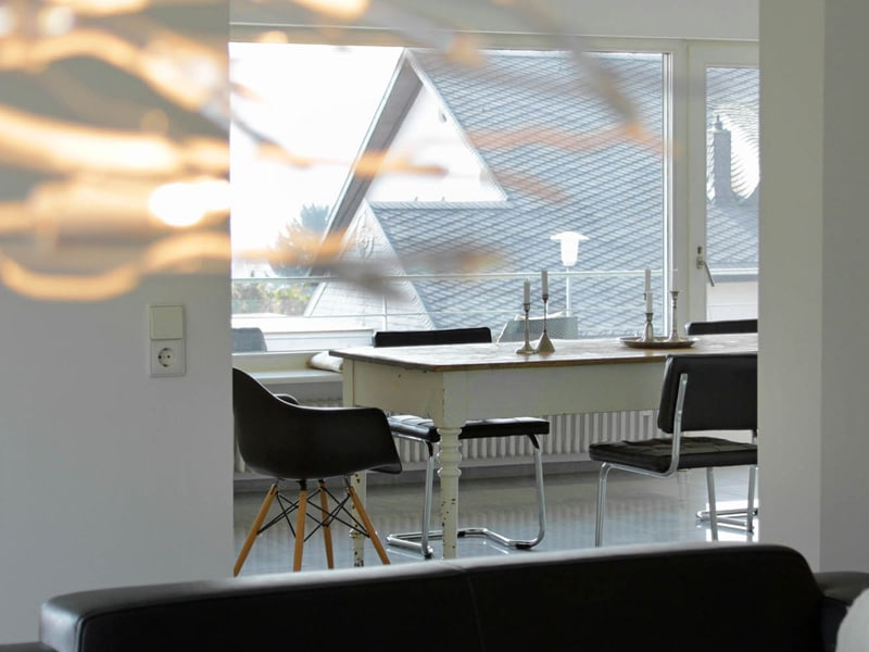 Homestaging Referenzobjekt Essbereich Detailfotografie