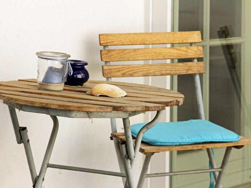 Homestaging aussenbereich Gartenstuhl