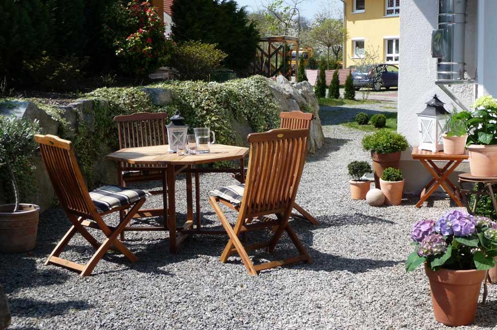 Homestaging Terrasse und Wintergarten