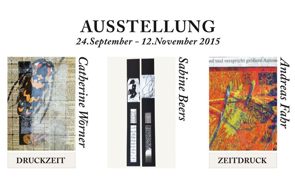 Einladungskarte Gruppenausstellung 2015