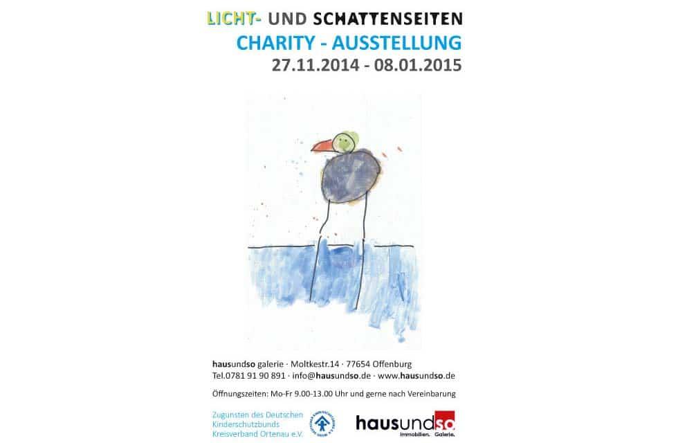 Charity Ausstellung Kinderschutzbund Plakat zur ausstellung